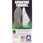 "Converse Jimmy Connors tennis shoes ""Advantage Connors"""