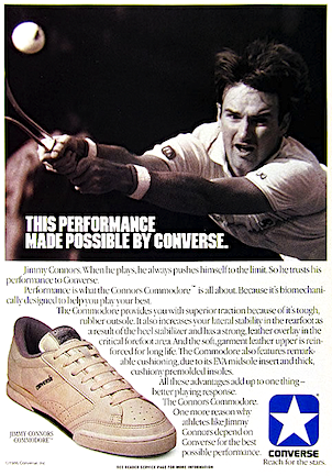 Converse Jimmy Connors Commodore tennis shoes