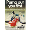 "Puma Easy Rider / Top Rider / Munchen ""Puma put you first."""