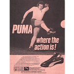 "Puma King Pele soccer shoes ""Puma Where the action is !"""