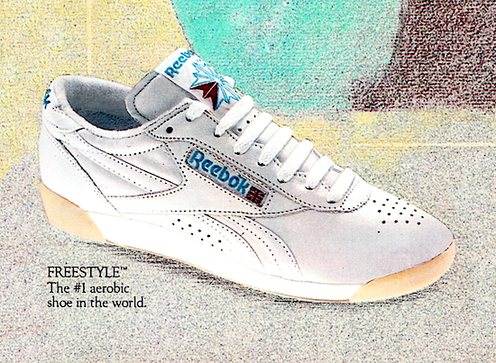 Reebok Freestyle aerobics shoes