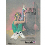 "Reebok Freestyle / Instructor / Charisma / Tech 4000 / Princess aerobics shoes ""Because life is not a spectator sport."""