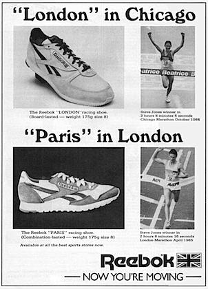 Reebok London / Paris running shoes