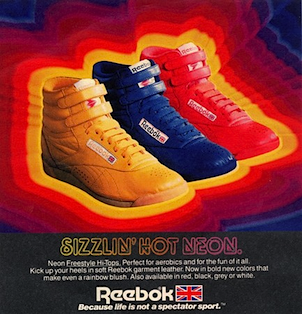 Reebok Neon Freestyle Hi-Tops
