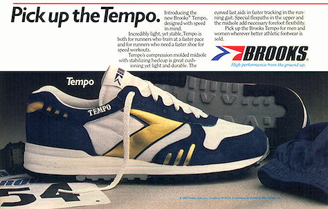 "4a9bb5f2bea5 Brooks Tempo running shoes ""Pick up the Tempo"""