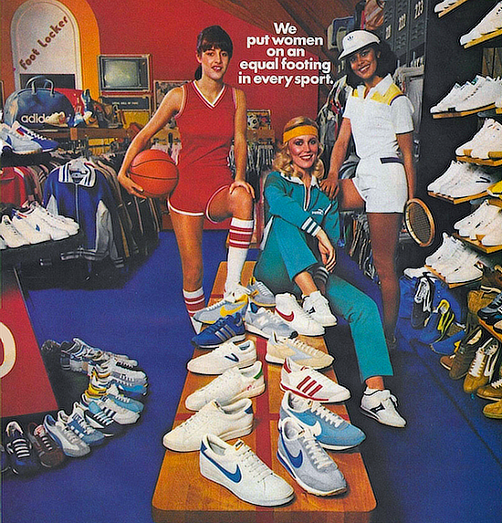 "Foot Locker ""We put women on an equal footing in every sport."""