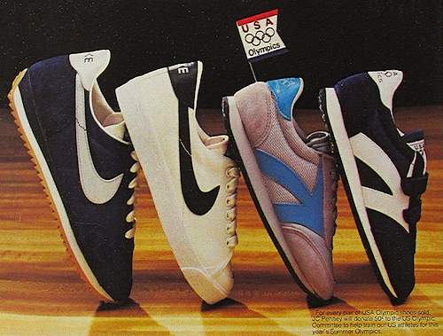 "df1390f630ef Nike and JCPenney shoes ""Our starting lineup for kids in 1984"""