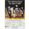 "Nike and JCPenney shoes ""Our starting lineup for kids in 1984"""