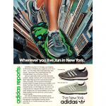 "adidas New York/ Lady New York running shoes ""Wherever you live, run in New York."""