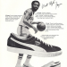 "Walt 'Clyde' Frazier and Puma Clyde basket shoes ""There are some good reasons why I lace into Puma shoes."""